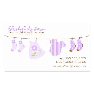 Cartões telefónicos das mamães do Clothesline do b Cartão De Visita