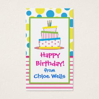 Cartões telefónicos do presente do bolo de