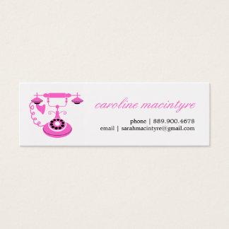 Cartões telefónicos do telefone do vintage mini