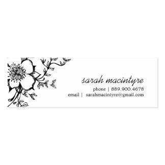 Cartões telefónicos florais/pequenos bonito modelos cartoes de visitas