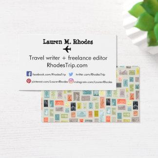 Cartões temáticos do selo do Blogger do escritor