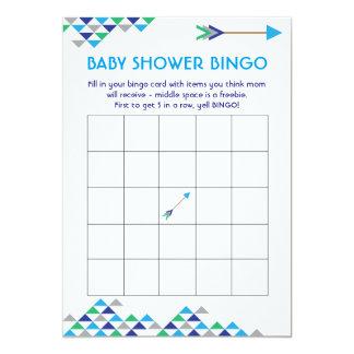 Cartões tribais & da seta do bebé do chá do Bingo Convite 12.7 X 17.78cm