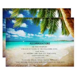 Cartões tropicais da acomodação do casamento de