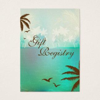 Cartões tropicais da lista de presentes da praia