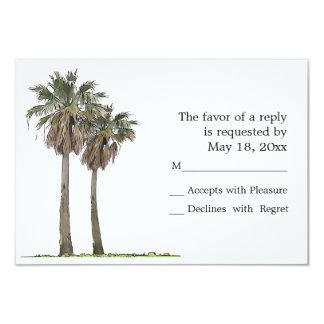 Cartões tropicais das palmeiras RSVP Convite 8.89 X 12.7cm