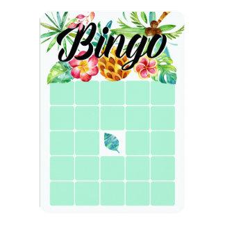 Cartões tropicais do Bingo da aguarela Convite 12.7 X 17.78cm