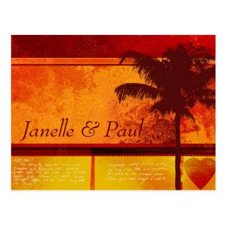Cartões tropicais feitos sob encomenda da palmeira
