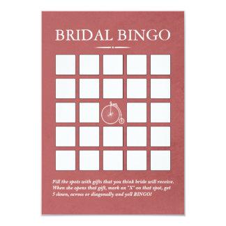 Cartões velhos à moda do Bingo do chá de panela da Convite 8.89 X 12.7cm