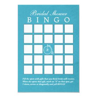 Cartões velhos azuis do Bingo do chá de panela da Convite 8.89 X 12.7cm