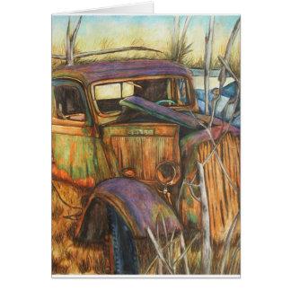 Cartões velhos destas belas artes do caminhão