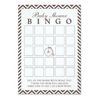 Cartões velhos do Bingo do chá de fraldas de Convite 8.89 X 12.7cm