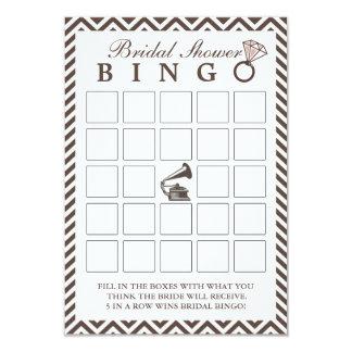 Cartões velhos do Bingo do chá de panela de Convite 8.89 X 12.7cm