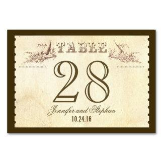 Cartões velhos do lugar do cartão do número da mes