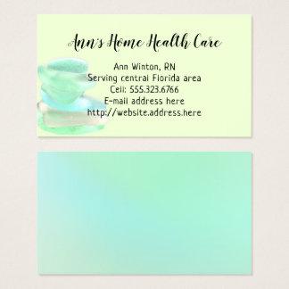 Cartões verdes de vidro dos cuidados médicos Home