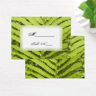Cartões verdes do lugar do casamento da fronda da