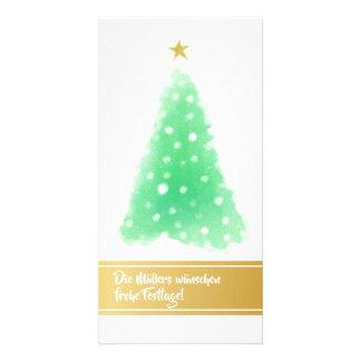 Cartões verdes do ouro de Minimalistic do Natal