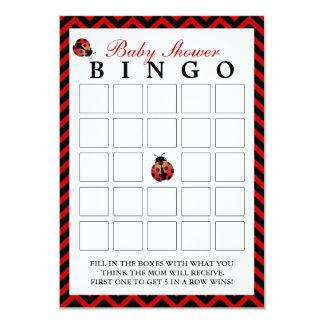 Cartões vermelhos do Bingo do chá de fraldas de Convite 8.89 X 12.7cm