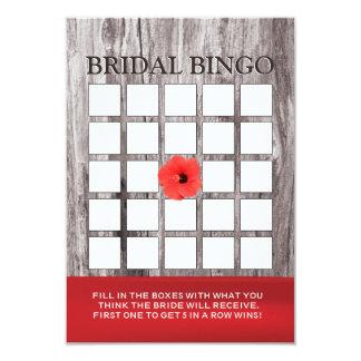 Cartões vermelhos do Bingo do chá de panela da Convite 8.89 X 12.7cm