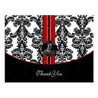 cartões vermelhos do damasco ThankYou Cartão Postal
