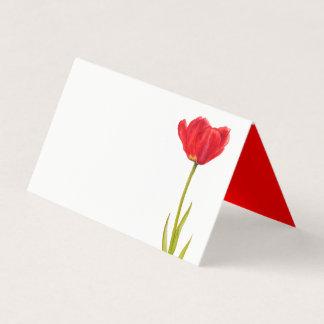 Cartões vermelhos do lugar do convidado da arte da