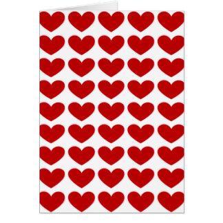Cartões vermelhos dos corações do amor
