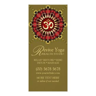 Cartões vermelhos verdes da cremalheira da ioga do 10.16 x 22.86cm panfleto