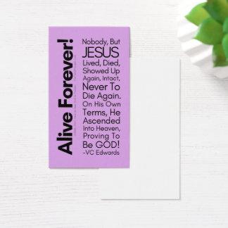Cartões vivos do cristão da lavanda Forever1