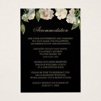 Cartões Wedding brancos da acomodação da peônia |
