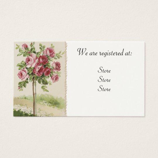 Cartões Wedding cor-de-rosa de Registery do