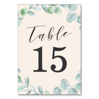 Cartões Wedding delicados do número da mesa da