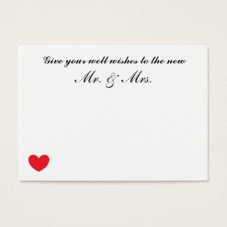 """""""Cartões Wedding dos desejos bons"""" Cartão De Visitas"""