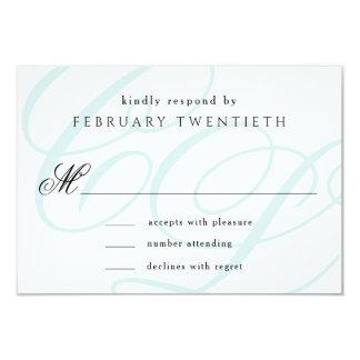 Cartões Wedding Monogrammed azuis de Tiffany RSVP