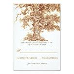 cartões wedding rústicos da árvore velha marrom convites personalizados