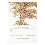 cartões wedding rústicos da árvore velha marrom RS Convites Personalizados