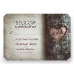 Cartões wedding rústicos da árvore velha RSVP Convite Personalizado
