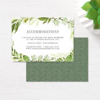 Cartões Wedding selvagens do alojamento em hotel Cartão De Visitas