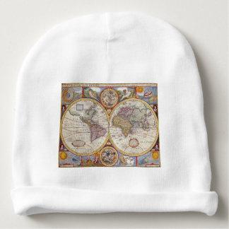 Cartografia antiga do mapa de Velho Mundo do Gorro Para Bebê