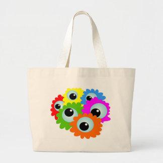 cartoon-268508 desenhos animados, olhos, flores, bolsas para compras