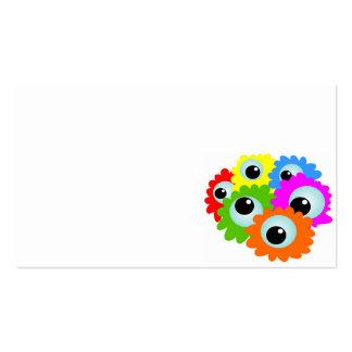 cartoon-268508 desenhos animados, olhos, flores, modelos cartoes de visitas