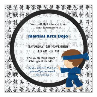Casa aberta das artes marciais convite personalizados