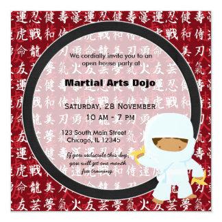 Casa aberta das artes marciais convites personalizados