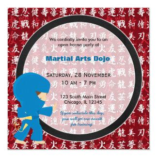Casa aberta das artes marciais convite personalizado
