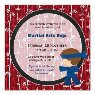 Casa aberta das artes marciais convite