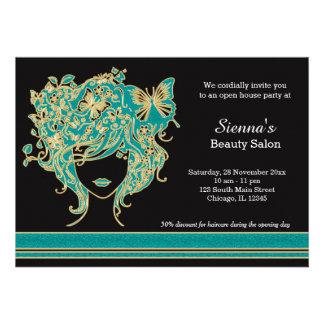 Casa aberta do cabeleireiro convites personalizados