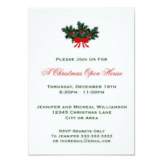 Casa aberta ou partido do Natal clássico simples Convite Personalizado
