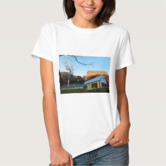 Casa amarela no parque t-shirts