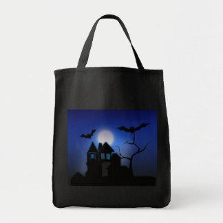 Casa assombrada assustador bolsas de lona