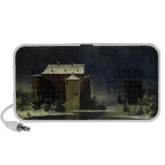 Casa assombrada na neve 1848 caixinhas de som para iPod