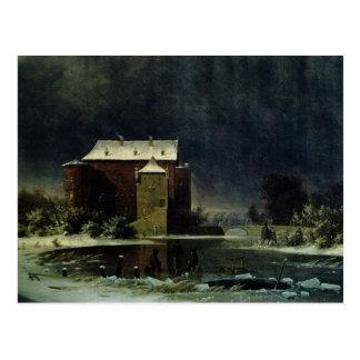 Casa assombrada na neve, 1848 cartão postal