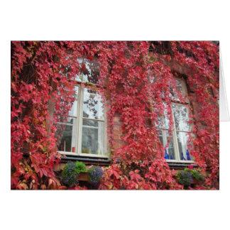 Casa bem-vinda - cores do outono cartão